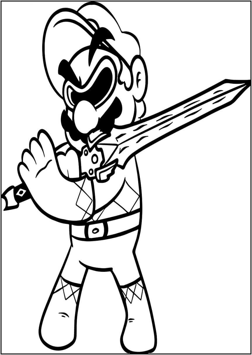 Mario with Sword