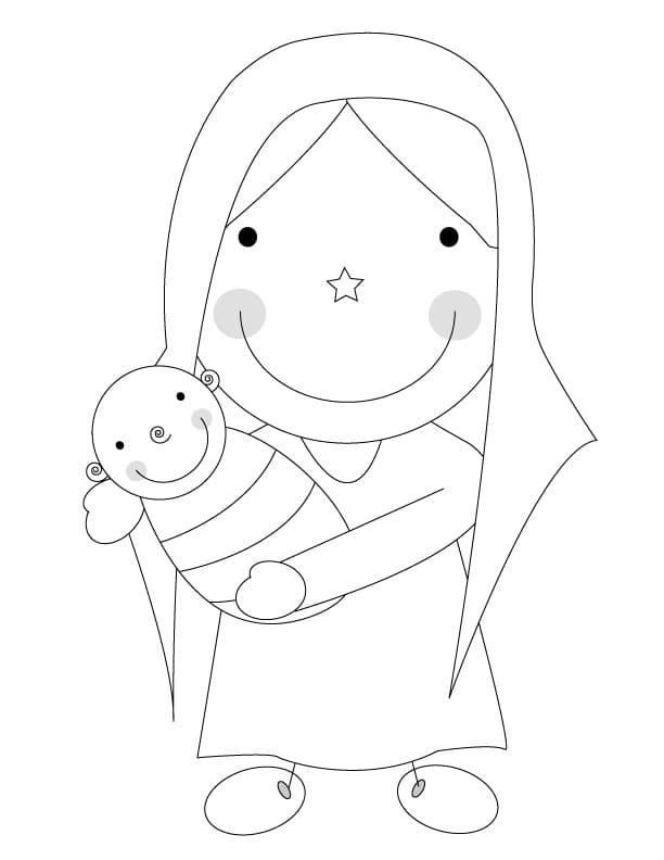 Mary Holding Baby Jesus