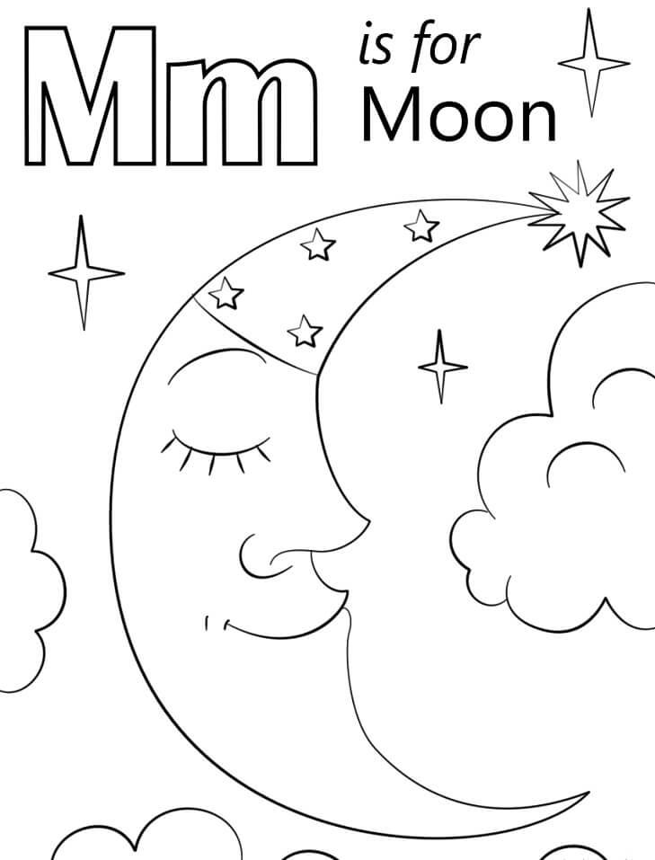 Moon Letter M