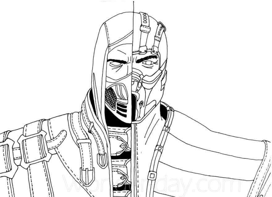 Mortal Kombat Scorpion and Sub-Zero