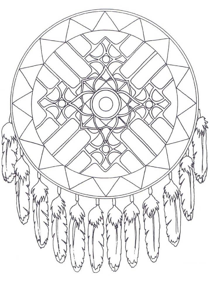 Native American Dreamcatcher Mandala