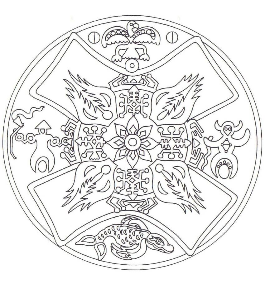 Native American Mandala 1