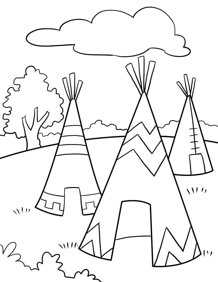 Native Americans Teepee