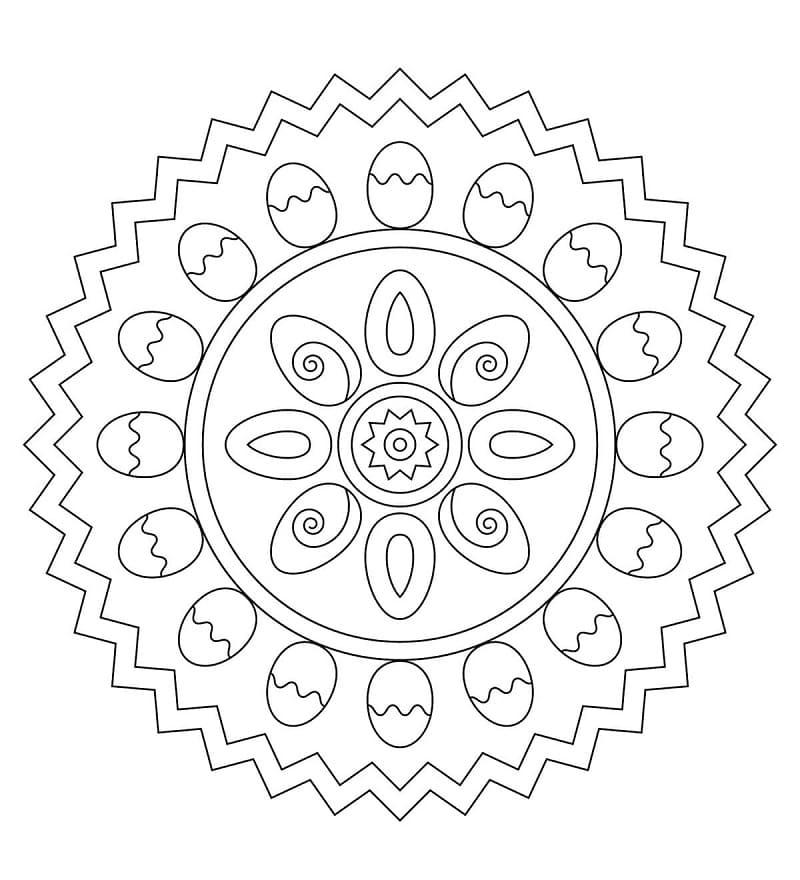Nice Easter Mandala