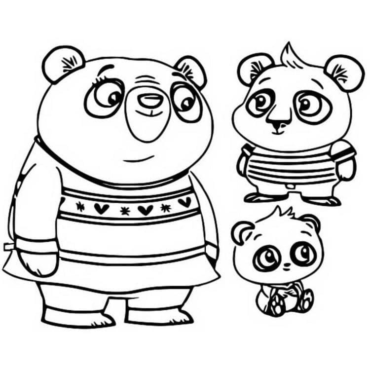 Nico Panda, Bodi Panda, Amanda Panda