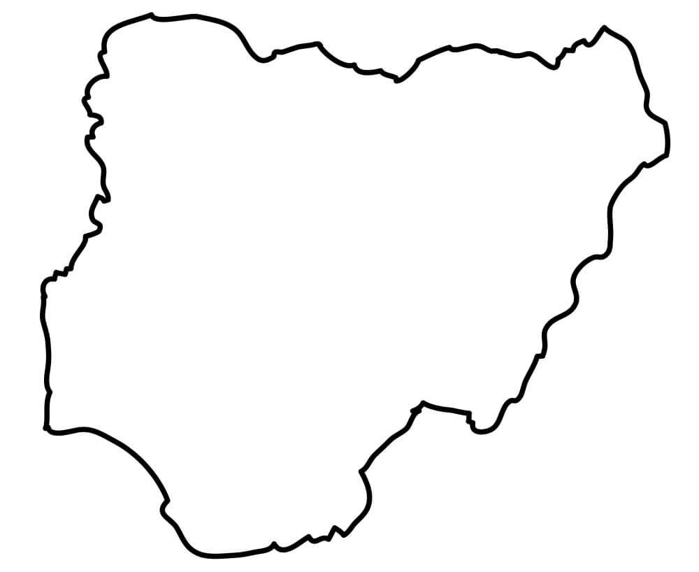 Nigeria Outline Map