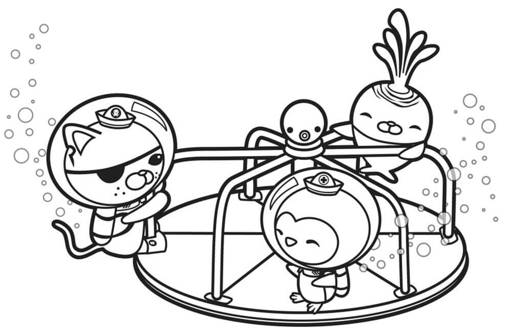 Octonauts Playing Wheel