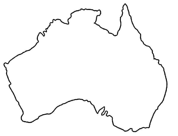 Outline Map of Australia
