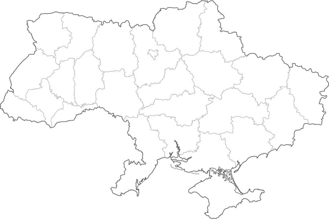 Outline Map of Ukraine
