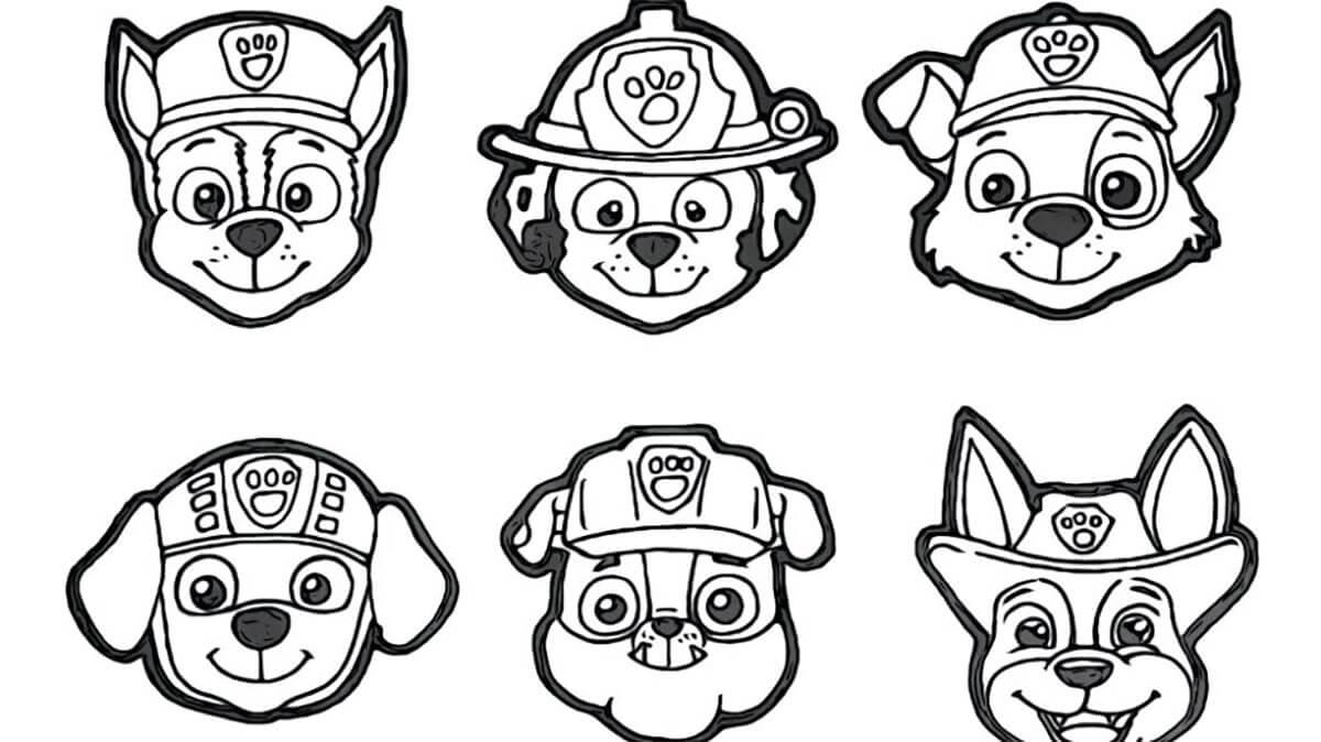Paw Patrol Characters' Head
