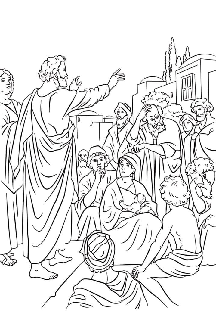 Peter Preaching at Pentecost