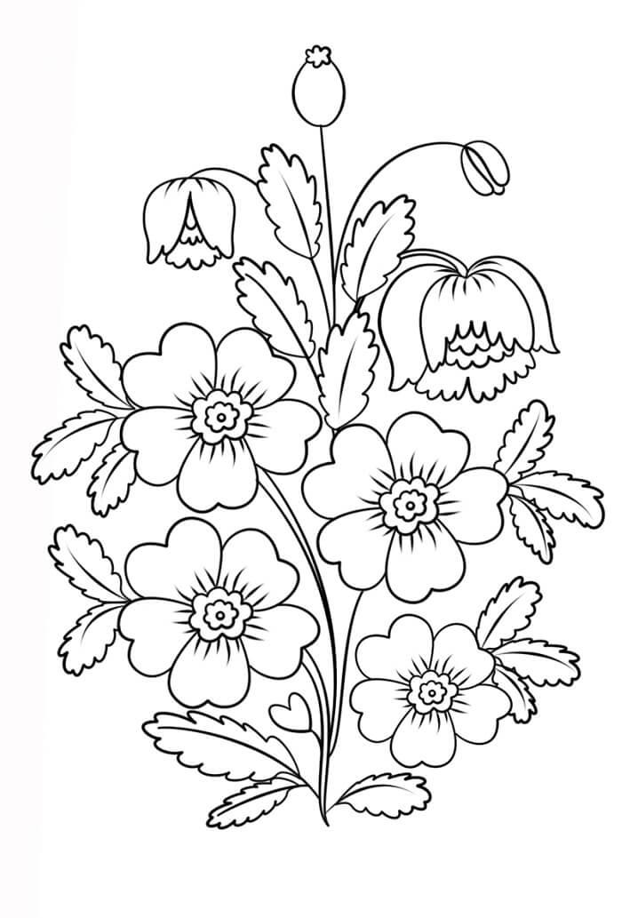 Petrykivka Painting Flowers