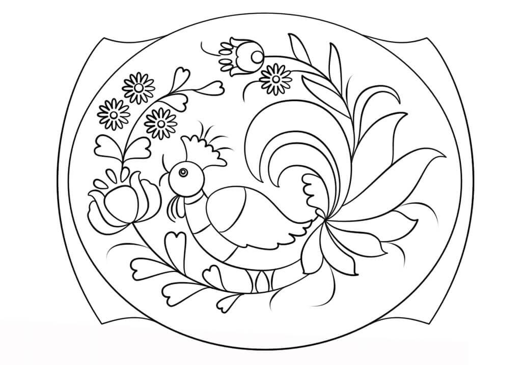 Petrykivka Painting Pattern
