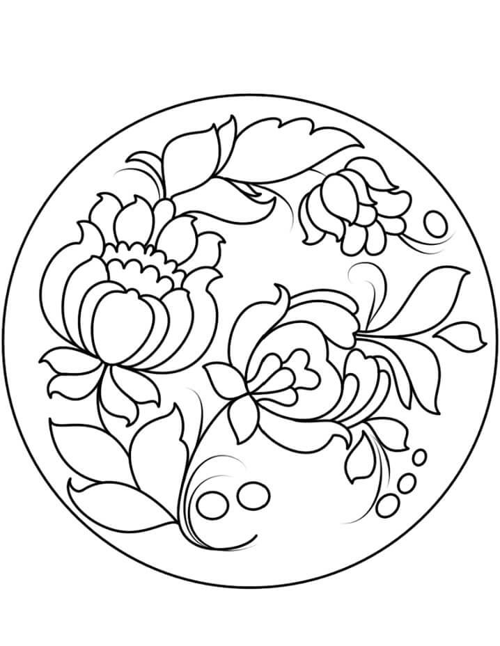 Petrykivka Painting Plate
