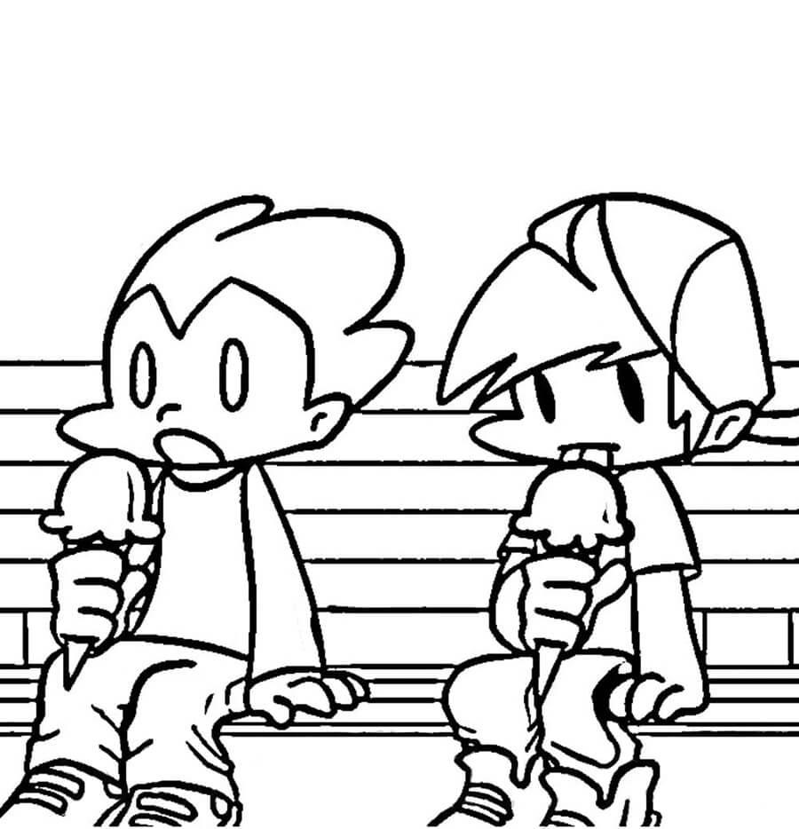 Pico and Boyfriend Eating Ice Cream