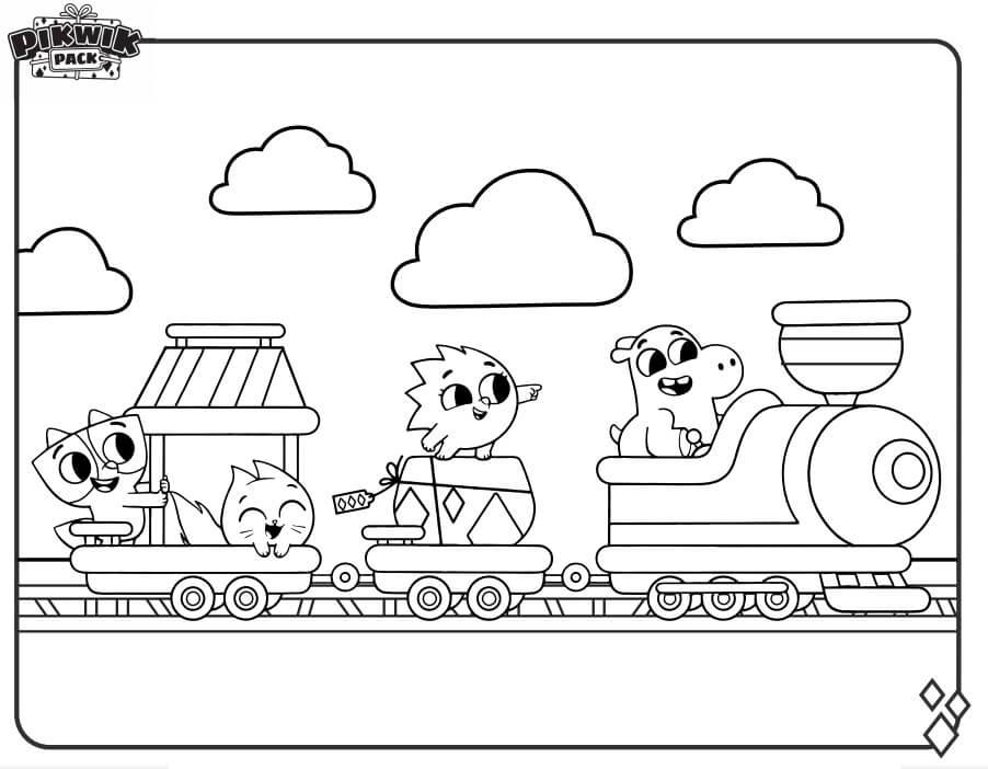 Pikwik Pack on Train