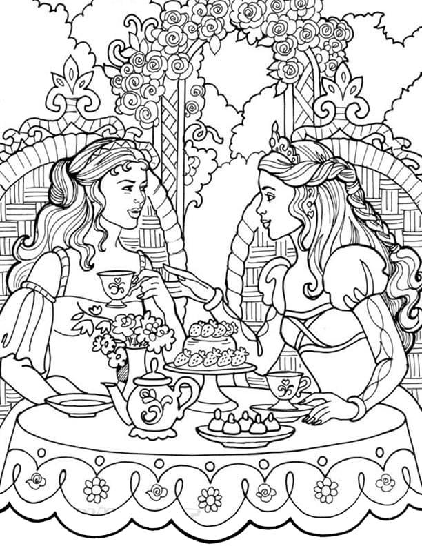 Princess Leonora Having Tea