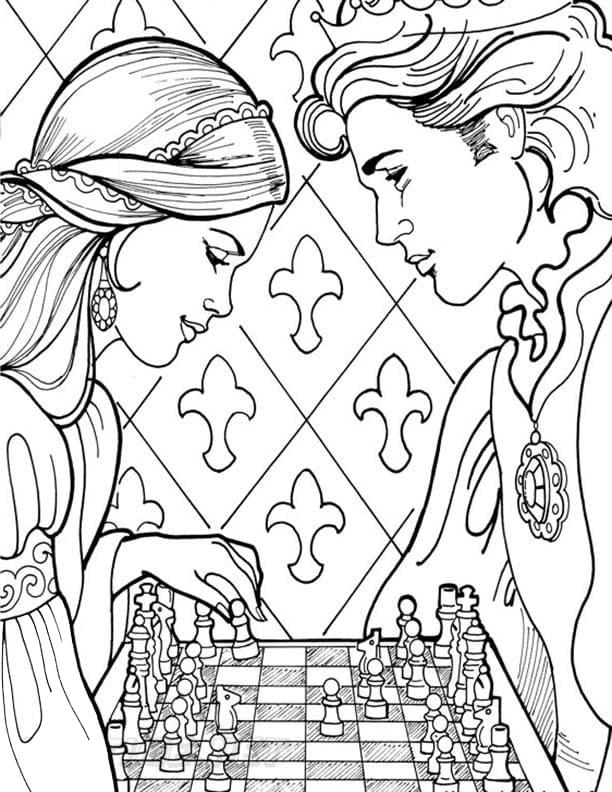 Princess Leonora Playing Chess