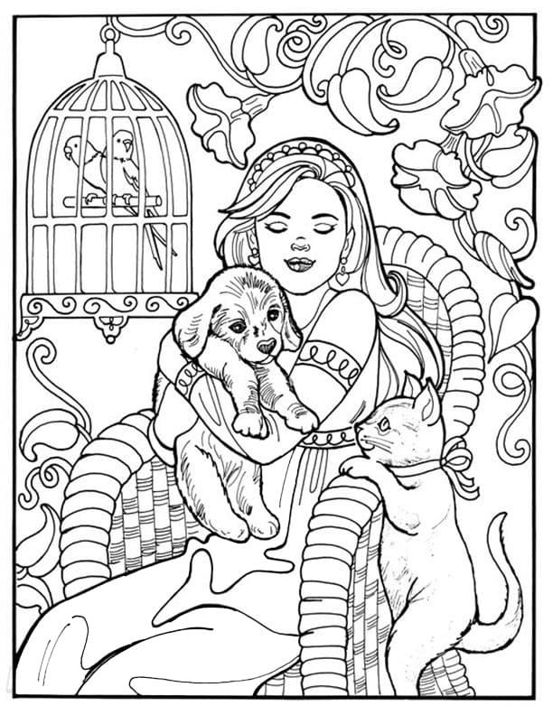 Princess Leonora and Pets