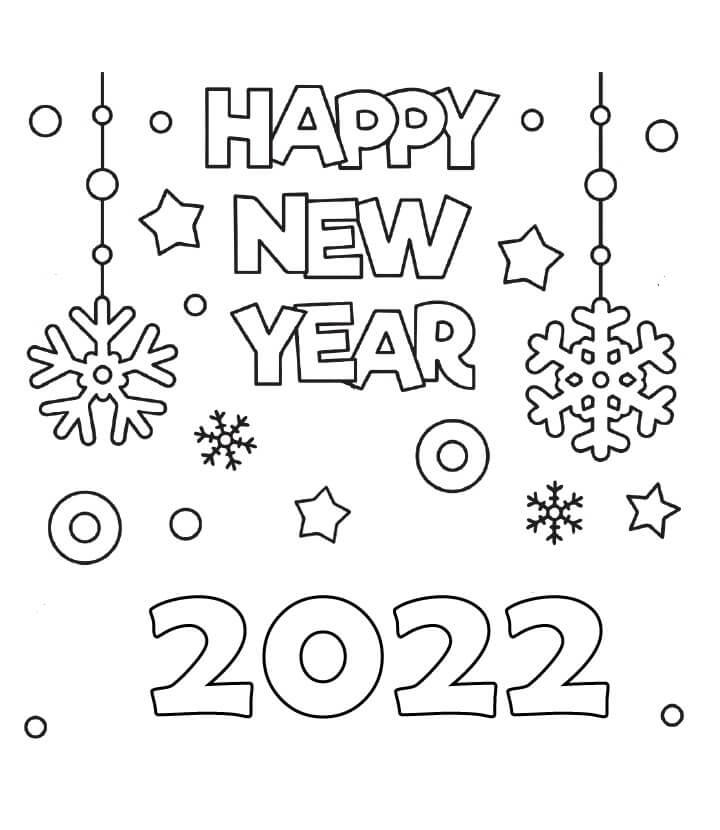 Printable 2022 New Year