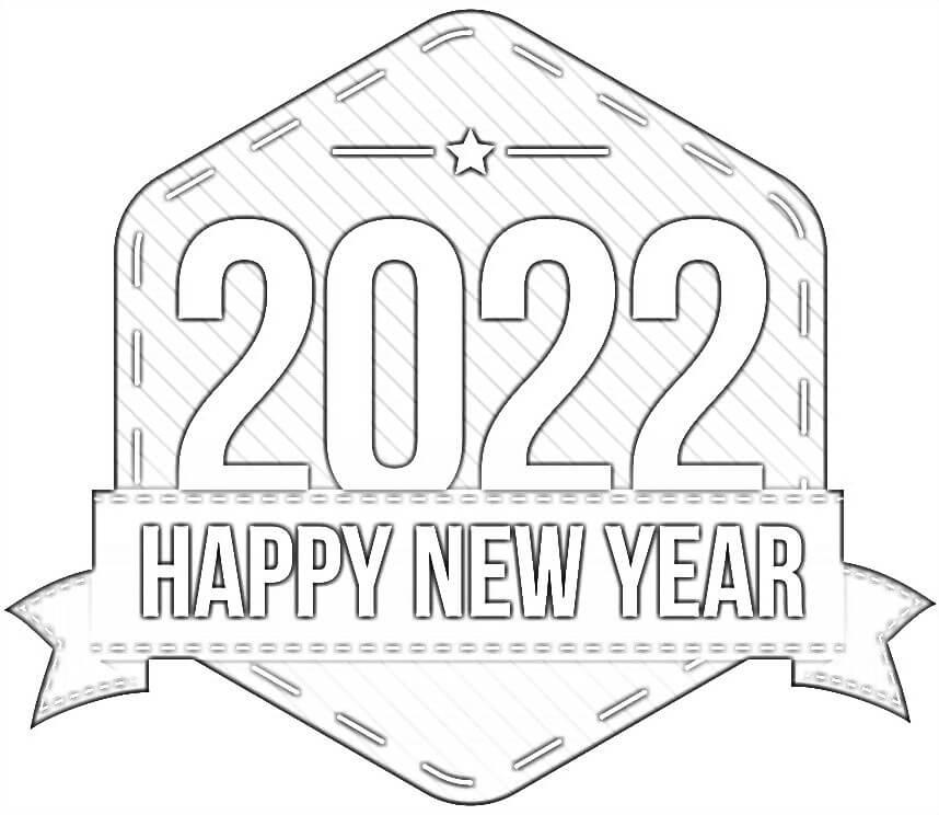 Printable Happy New Year 2022
