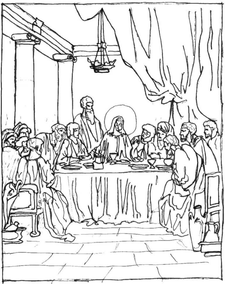 Printable Last Supper