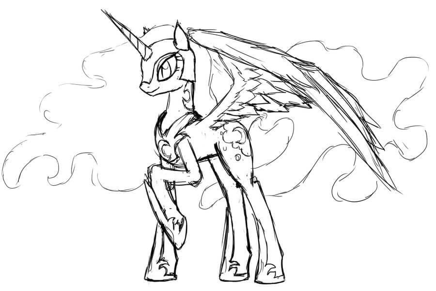 Printable Princess Luna