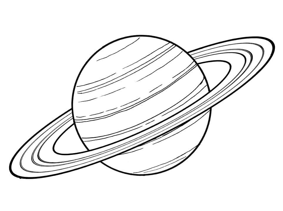 Printable Saturn