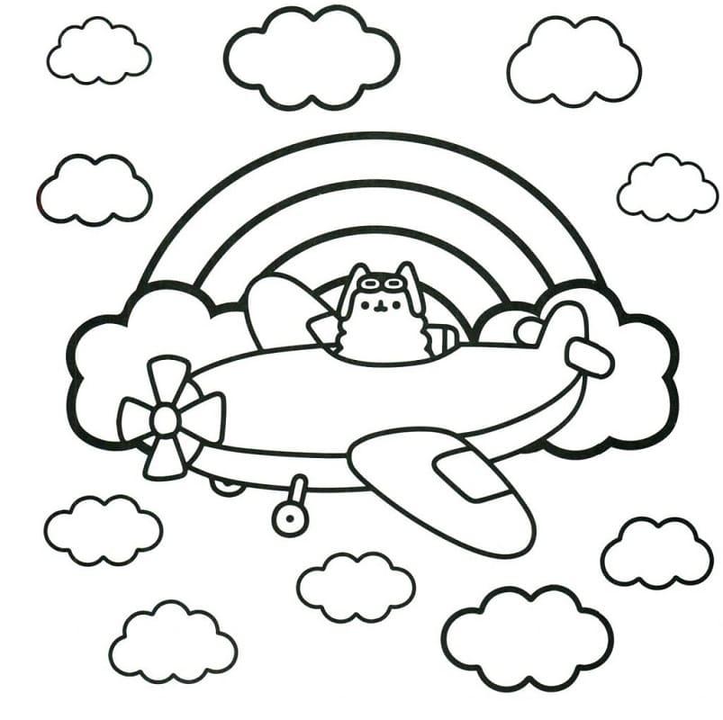 Pusheen Flying