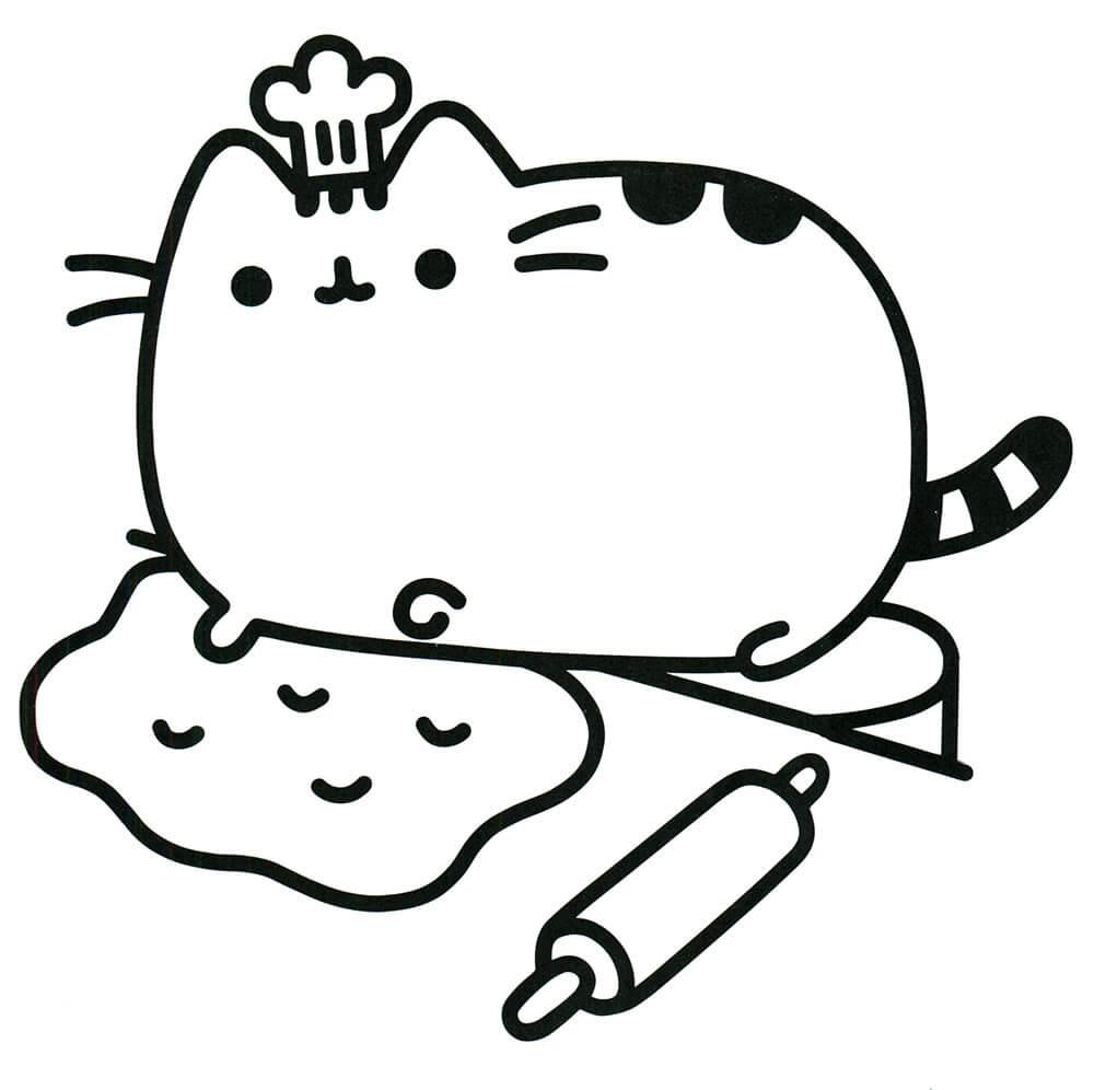 Pusheen Makes a Cake