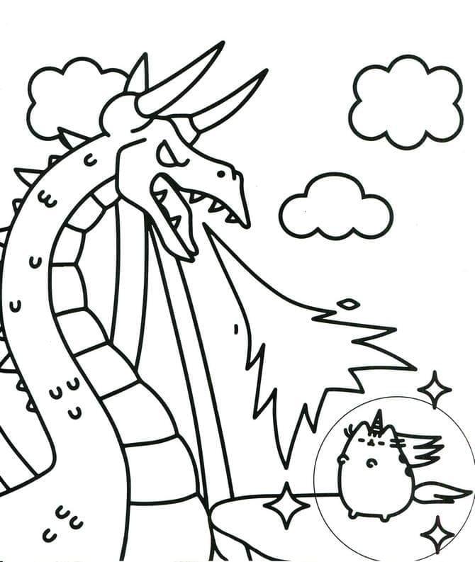 Pusheen and Dragon
