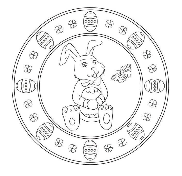 Rabbit Easter Mandala