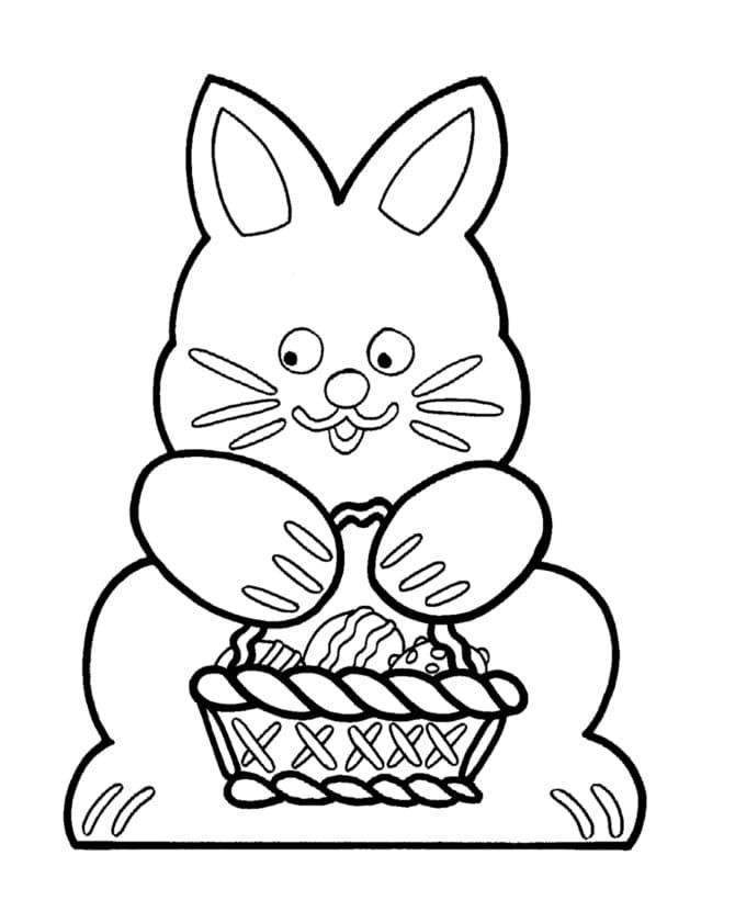 Rabbit Holding Easter Basket