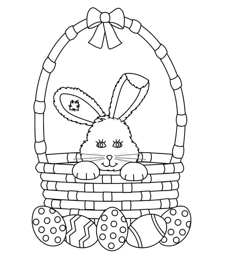 Rabbit in Easter Basket