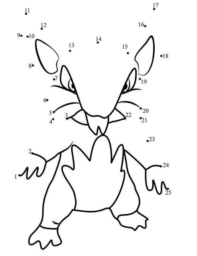 Rattata Pokemon Dot to Dot