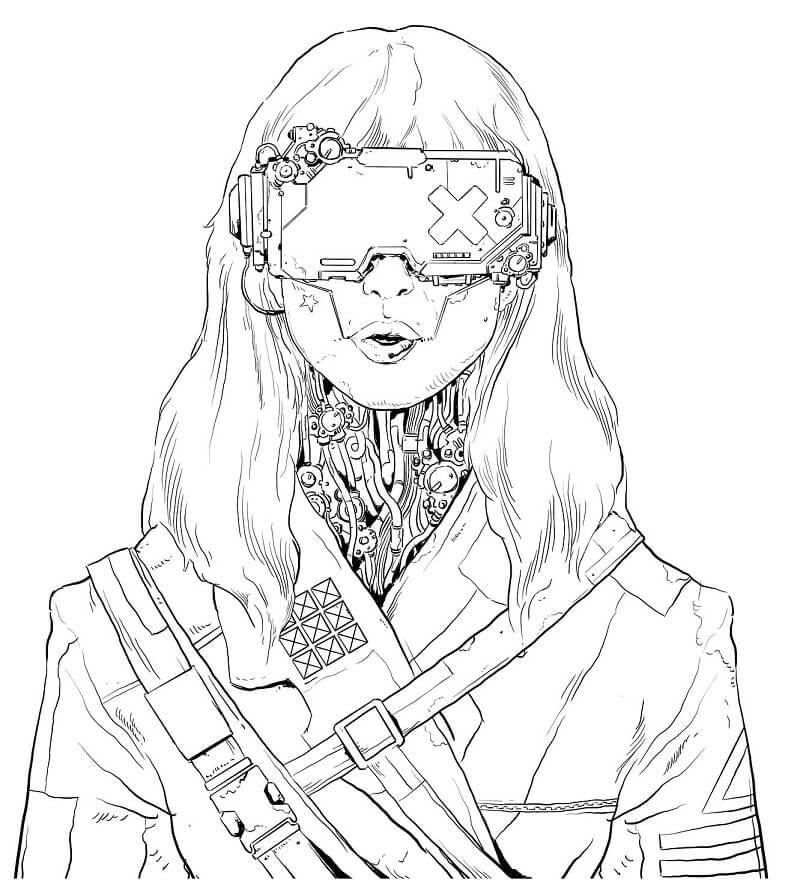 Robot Girl from Cyberpunk 2077