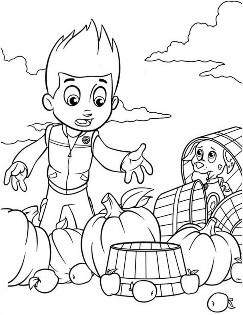 Ryder Harvests Pumpkin