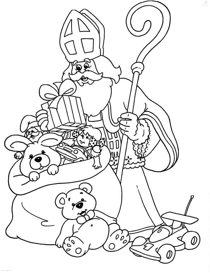 Saint Nicholas and Gifts