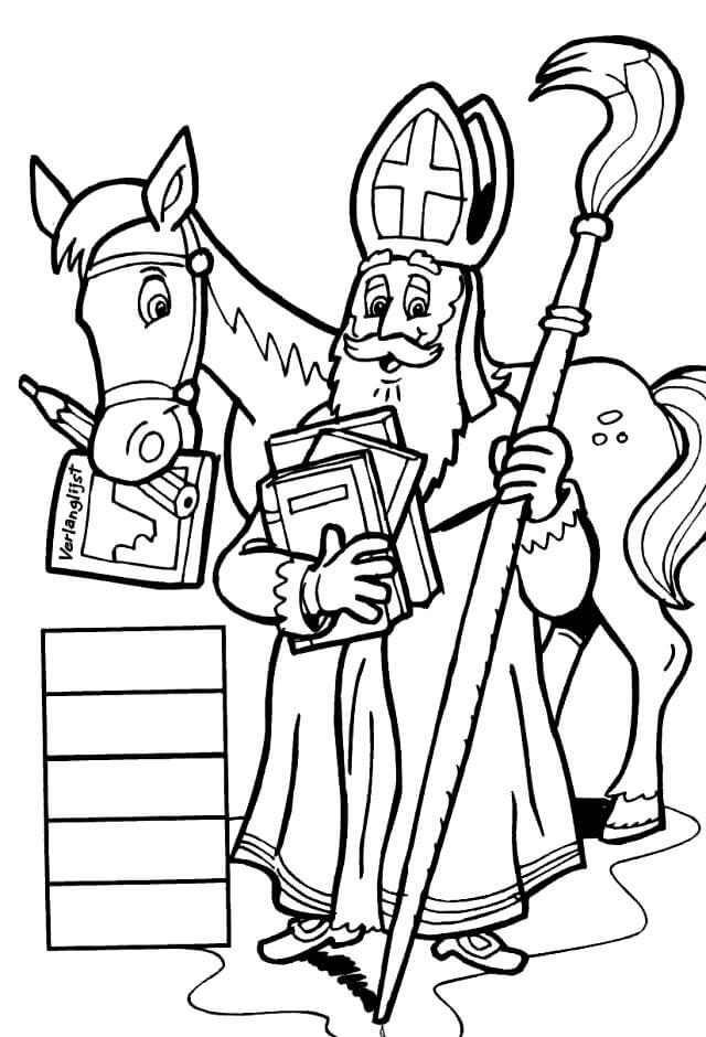 Saint Nicholas and Horse
