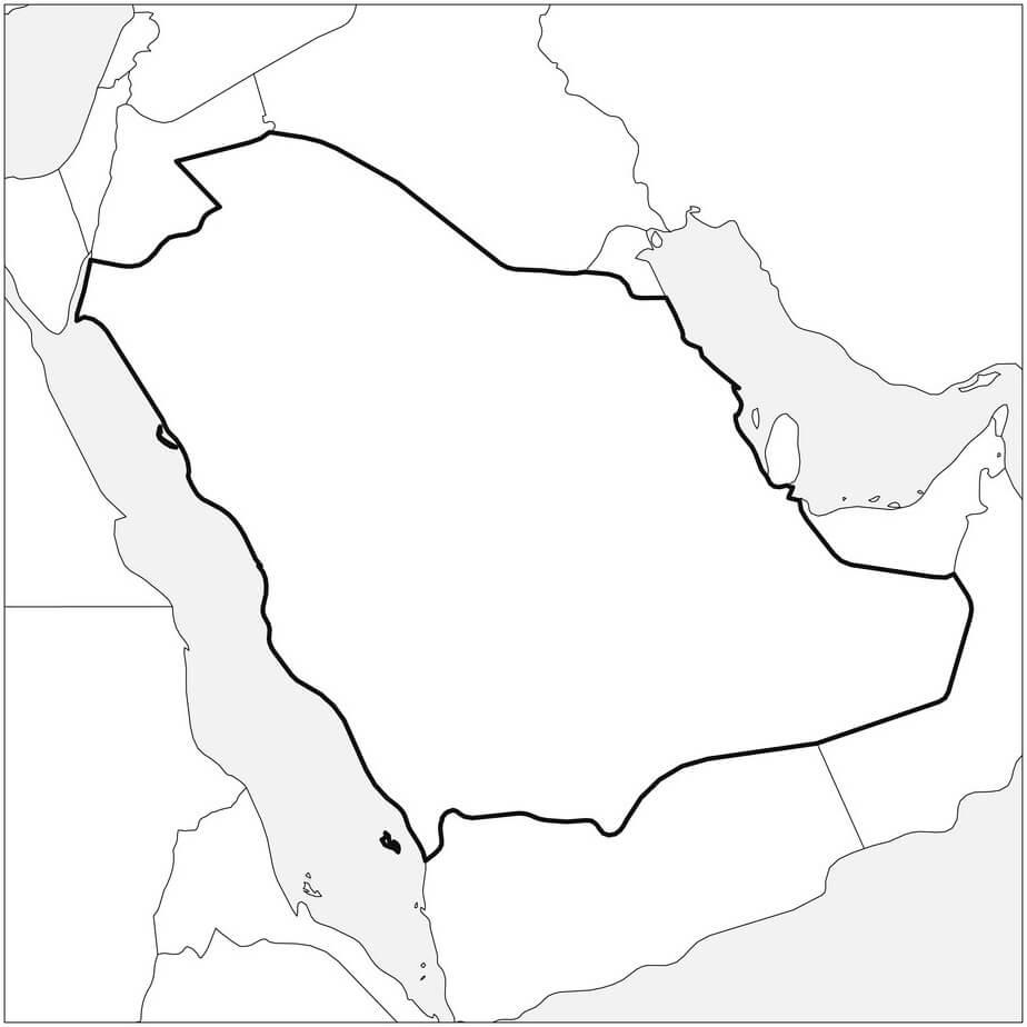 Saudi Arabia's Map