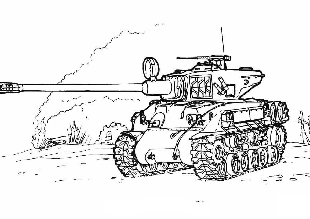 Sherman M-51 Tank