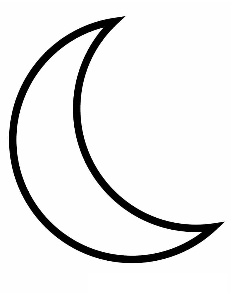 Simple Crescent Moon
