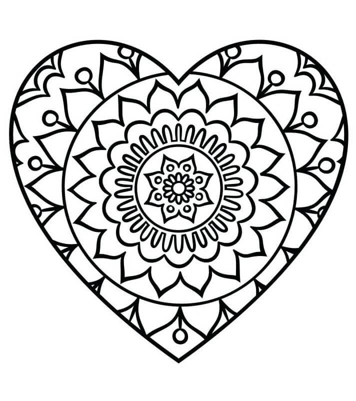 Simple Heart Mandala