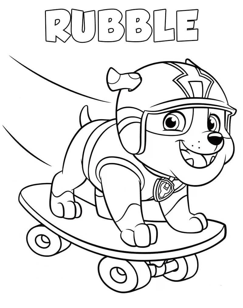Skateboarding Rubble