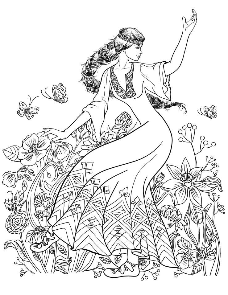 Slavic Girl Dance