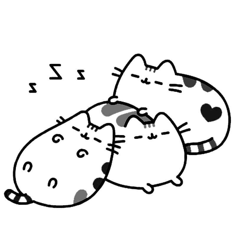 Sleeping Pusheen Cats