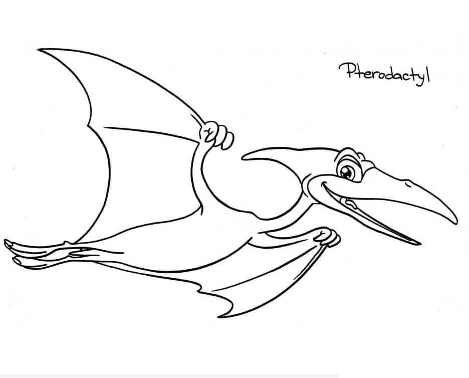 Smiling Pterodactyl