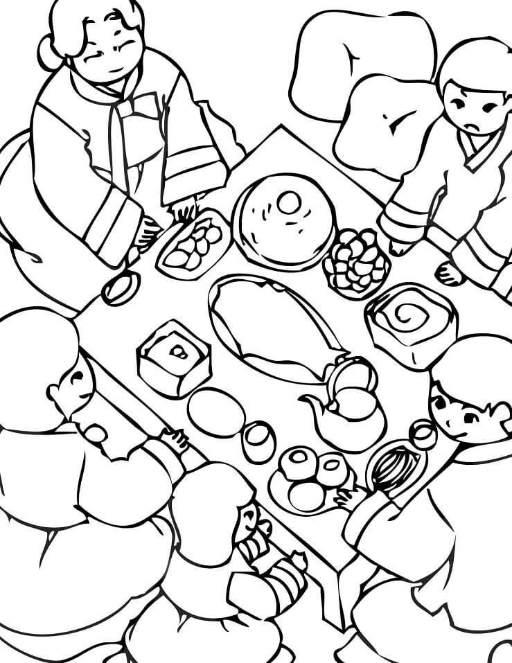 South Korean Family Meal