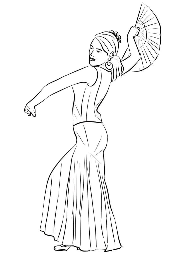 Spanish Woman Dancing