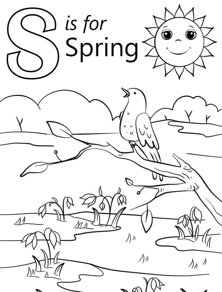 Spring Letter S